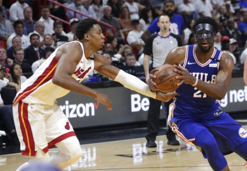 Sixers' Embiid happy to get physical vs. Heat