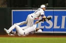 Diamondbacks hold A.J. Pollock, Chris Owings out after outfield collision