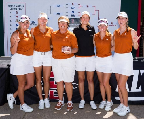 Texas women's golf team leads at Big 12 Championships