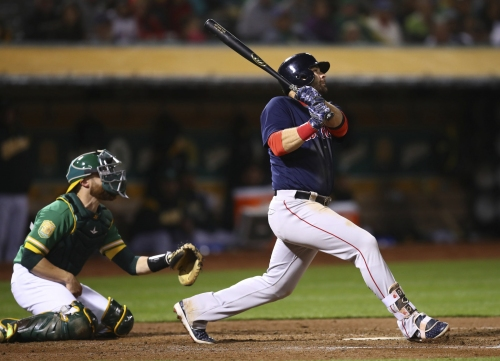Mitch Moreland crushes Boston Red Sox's fifth grand slam in 12 games after Boston went without one in 2017 (video)