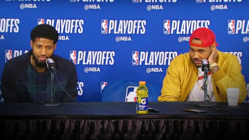 Carmelo Anthony roasts Paul George's playoff nickname