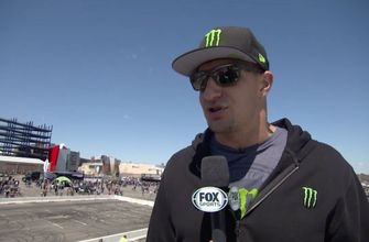 Rob Gronkowski checks out Monster Energy Supercross from Gillette Stadium in Foxborough