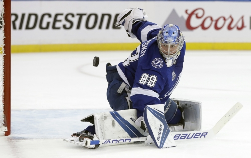 Lightning lean on Vasilevskiy to send Devils packing