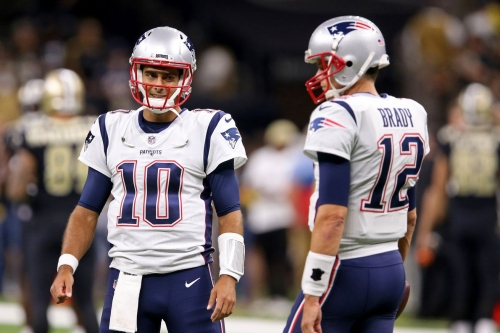 Tom Brady and Jimmy Garoppolo share quite a few mannerisms