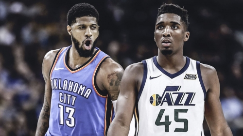 Paul George on working out with Donovan Mitchell at predraft workouts