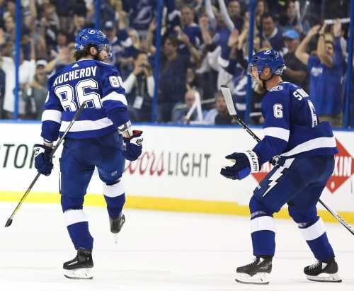 Nikita Kucherov's goal sets Lightning playoff series scoring record