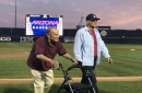 Watch: Arizona honors former coach Jerry Kindall before the Wildcats take on No. 3 Stanford