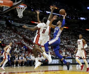 76ers' Simmons has triple-double vs. Heat; Pelicans advance