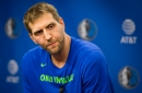 Mavs F Dirk Nowitzki gives update on the status of his left ankle after surgery