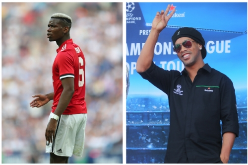 Manchester United player Paul Pogba handed ultimate compliment by Ronaldinho