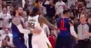Video: Jae Crowder confronts Russell Westbrook, inadvertently elbows Steven Adams' face