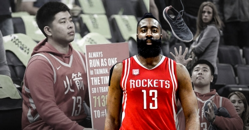 James Harden gives game-worn sneakers to Rockets fan who traveled from Taiwan