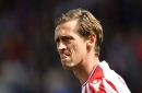 Stoke City striker goes viral on social media as he stands tall to welcome latest member of Royal Family