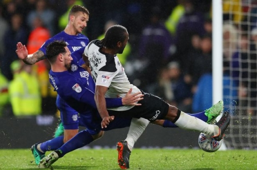 Derby County 3-1 Cardiff City: Cameron Jerome double dents Bluebirds' Premier League dream