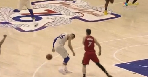 Video: Goran Dragic slaps Ben Simmons' head