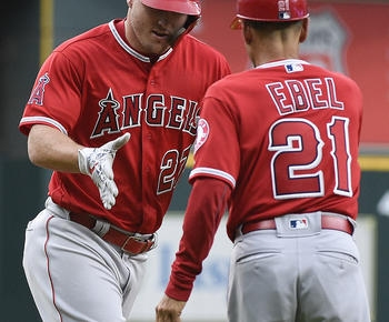 Trout hits 10th HR, Ohtani shaky, Angels beat Astros 8-7