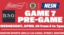 Boston Sports Grille To Host Bruins-Maple Leafs Game 7 Budweiser Pregame Party