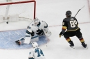 San Jose Sharks blitzed by Knights in first period, staked to 4-0 lead