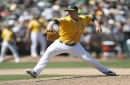 A's Ryan Buchter heads to disabled list; Petit, Coulombe return