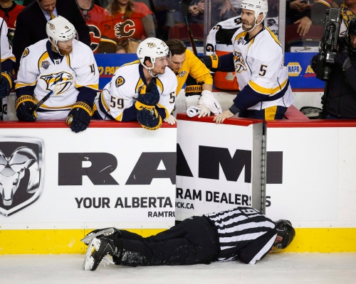 Injured NHL linesman ordered to pay legal costs to ex-Flames D-man Wideman