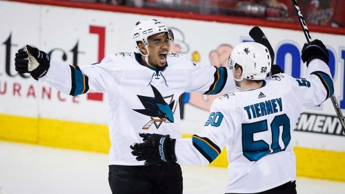 Sharks' Evander Kane suspended one game for cross-checking Golden Knights' Pierre-Edouard Bellemare