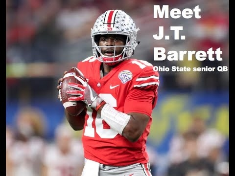 Where did Ohio State quarterback J.T. Barrett sign as an undrafted free agent?