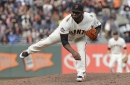 Ex-Boston Red Sox Pablo Sandoval reaches 88 mph and throws 5 curveballs pitching for Giants