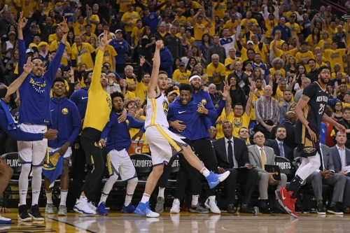 Photos: Warriors tear up the nets in game 1 against Pelicans