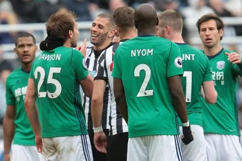 'Stupid, daft' Newcastle United forward Islam Slimani slammed for kicking out at Craig Dawson