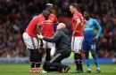 Manchester United's Juan Mata reacts to Romelu Lukaku injury vs Arsenal