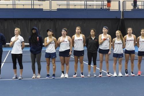 Illinois Women's Tennis falls in heartbreaker to Michigan in the Big Ten Tournament