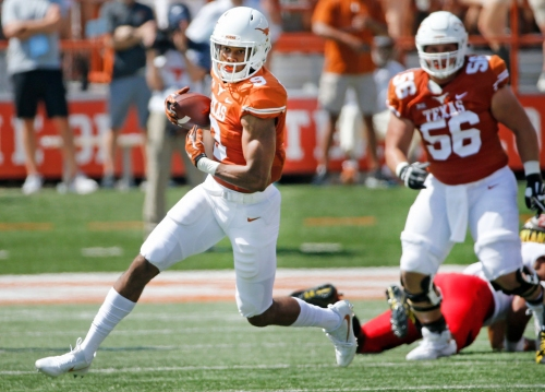 Longhorns' wideout Collin Johnson rises to first-round pick in 2019 mock drafts