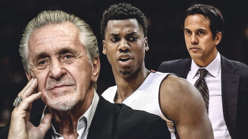 Pat Riley plans to help Hassan Whiteside, Erik Spoelstra come together