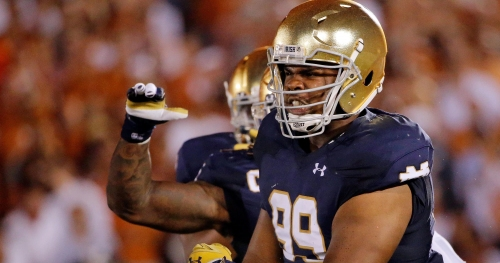 Brian Kelly on Notre Dame defensive tackle Jerry Tillery: 'He's growing up'