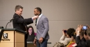 Seahawks receiver Doug Baldwin presented with King County MLK Jr. Medal of Distinguished Service award