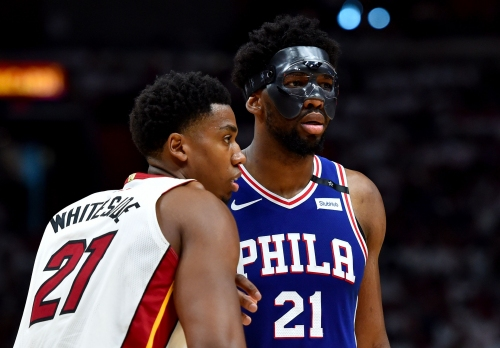 Pat Riley calls out Hassan Whiteside for poor playoff performance; Joel Embiid chimes in