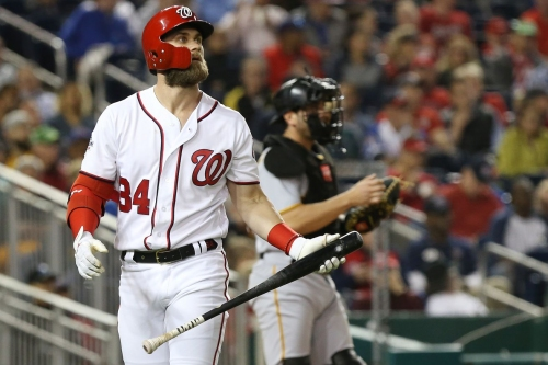 Washington Nationals' Bryce Harper gets walked some more, gets frustrated some more...
