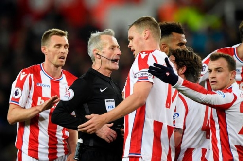 You've got to be kidding! Martin Atkinson handed crucial Stoke game