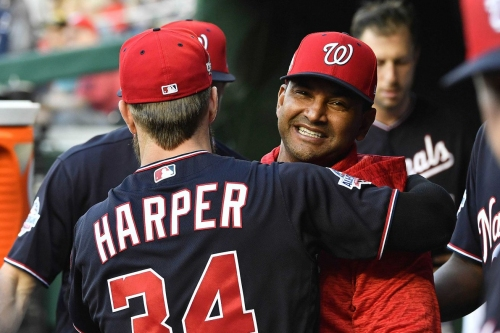 Bryce Harper moved to leadoff spot, hits three-run home run in Nationals Park...