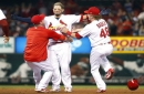 A pause that refreshed: Molina steps away from plate, follows with game-winning single