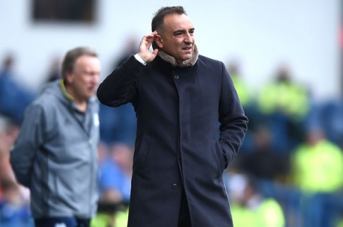 Carlos Carvalhal insists Cardiff City joining Swansea City in the Premier League next season would be a good thing