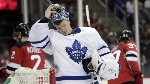 Maple Leafs' Frederik Andersen's new world championship mask unveiled