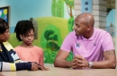 Memphis basketball coach Penny Hardaway visits St. Jude Children's Research Hospital