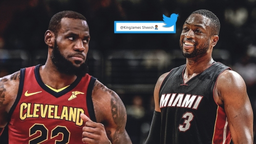 Dwyane Wade turned to Twitter to let LeBron James know he decimated the Raptors