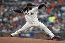 What's the latest with injured Giants starter Johnny Cueto?