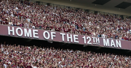 Texas A&M TE Luke Laufenberg has been declared cancer-free