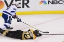Bruins fall in overtime to Lightning, trail series 3-1