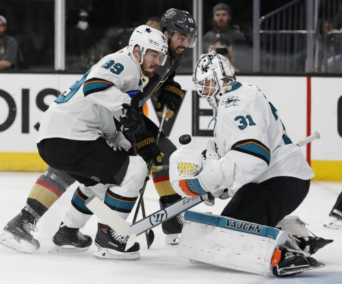 Sharks come alive too late in Game 5, now on brink of elimination
