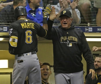 Marte's inside-the-park HR helps Pirates beat Brewers 6-4