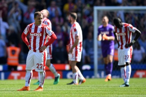 Stoke City are relegated from the Premier League after losing to Crystal Palace
